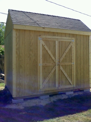 shed front angle